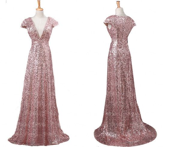 61a0f8f645 Rose gold bridesmaid dresses