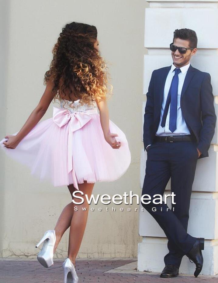 Light Pink Sweetheart Short Prom Dress 05a721a58