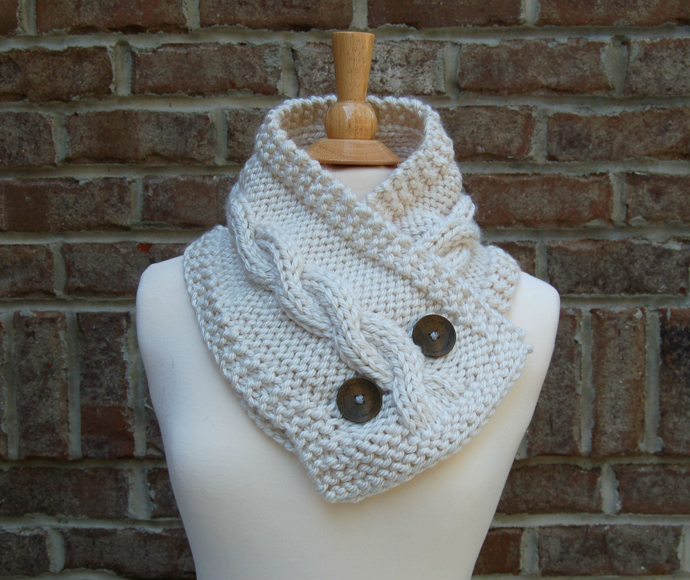 Handmade Knit Cable Cowl Knit Cable Scarf Pixanoodle Online