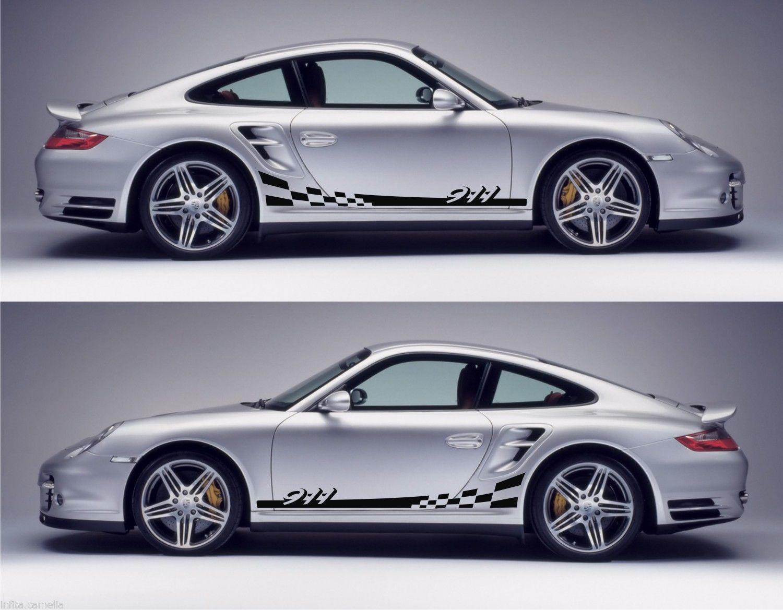 Ssk050 porsche 911 gt2 997 racing stripes sticker kit euro stance fitment drift hoonigan dc