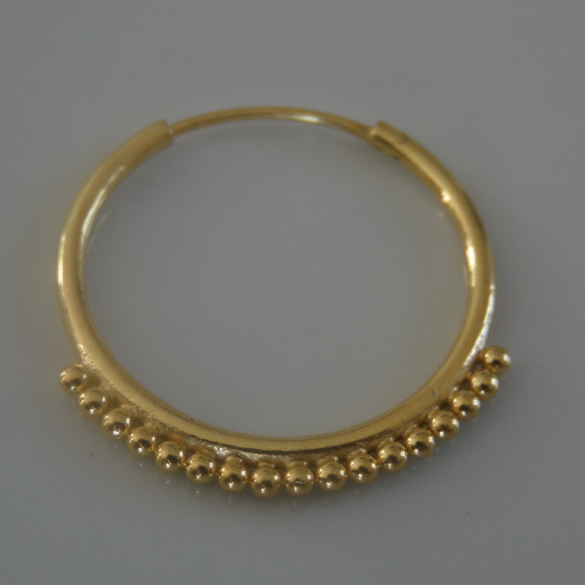 Gold Earrings Gold Hoops Ethnic Hoops Gypsy Hoops Ethnic