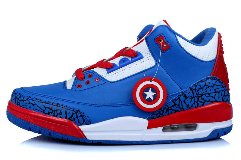 Captain America Mens Basketball Shoes Jordans Pair Sneakers - 4 Styles  /Style 4 on Storenvy