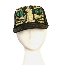 00fabcf45e893 Envy This Collect. CHEETAH GLITTER HAT