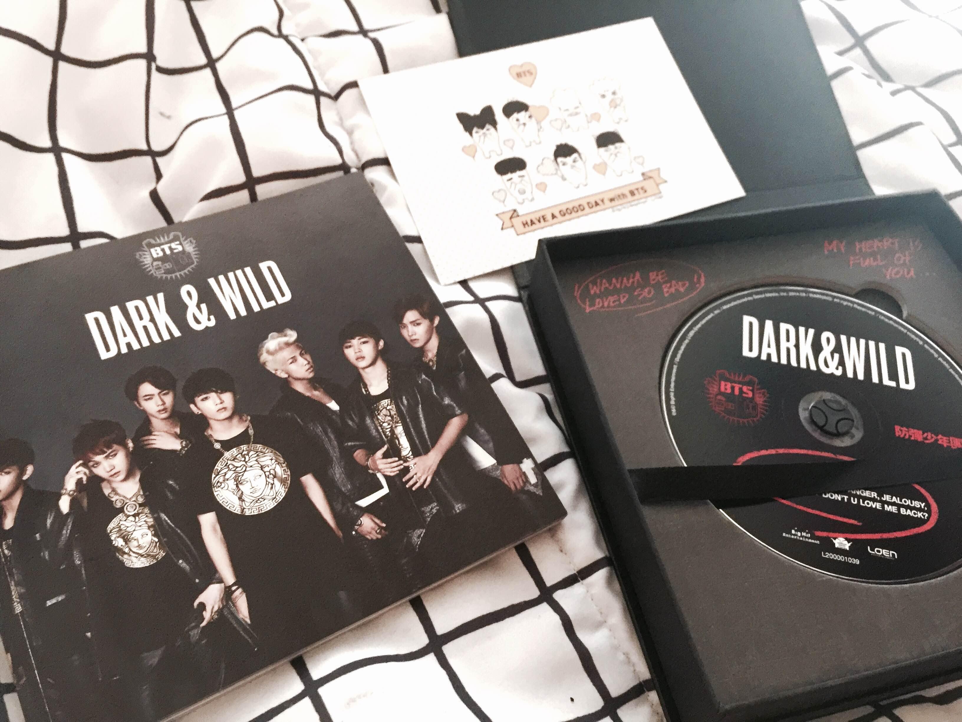 dark & wild bangtan boys kpop album sold by sky above, voice within