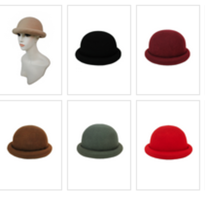 39555bc181b ROLLED BRIM BOWLER HAT (adult) · Liz Boutique · Online Store Powered by  Storenvy