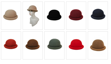 8a1e54c46a1 ROLLED BRIM BOWLER HAT (adult) · Liz Boutique · Online Store Powered ...