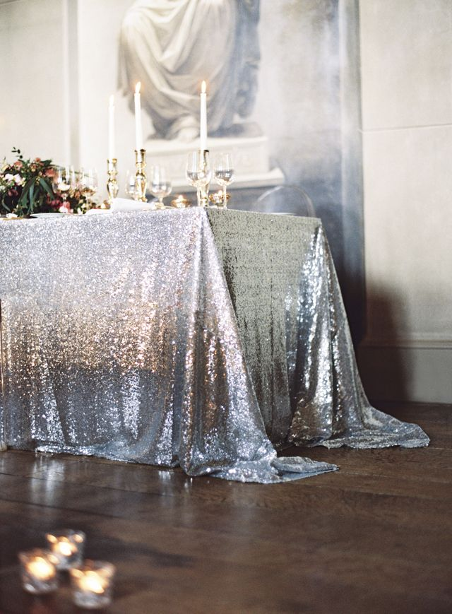 Silver Sequin Tablecloth Select Your Size Sequin Cake