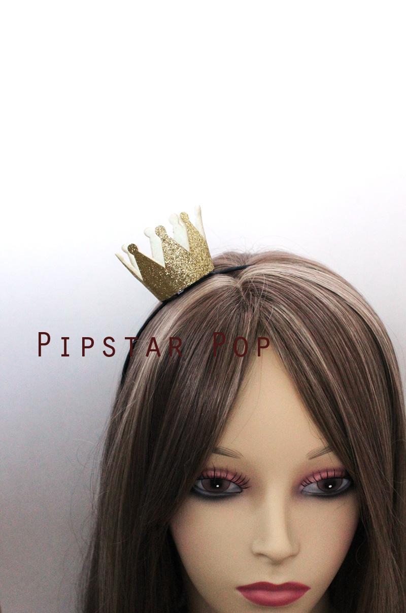 Gold Lolita Princess Headband - Mini Princess Crown Hairband for ... ffae71f2c50