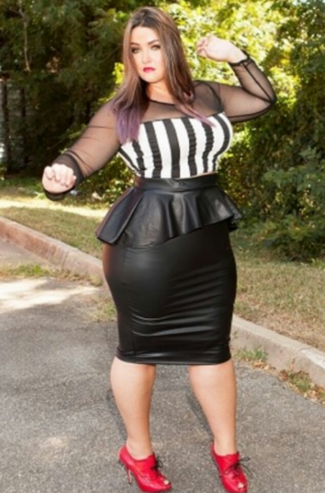 6f9229a0899 Black Faux Leather Peplum Skirt -+ Plus Sizes Available on Storenvy