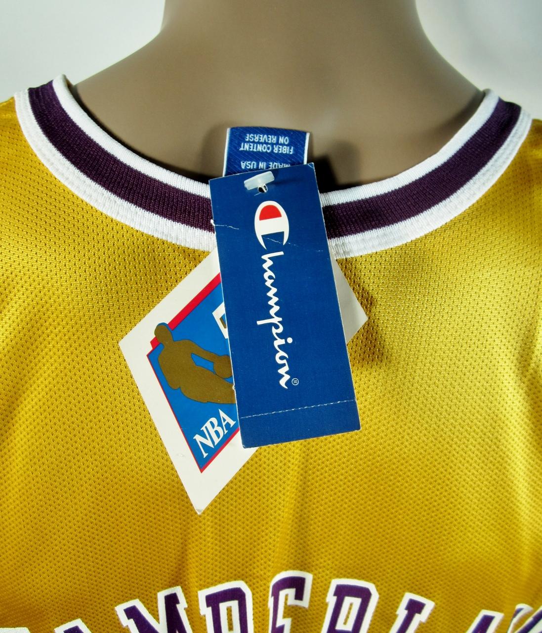 5992a30be38 ... Wilt Chamberlain Los Angeles Lakers NBA 50 Gold logo Champion Jersey NWT  - Thumbnail 2 ...