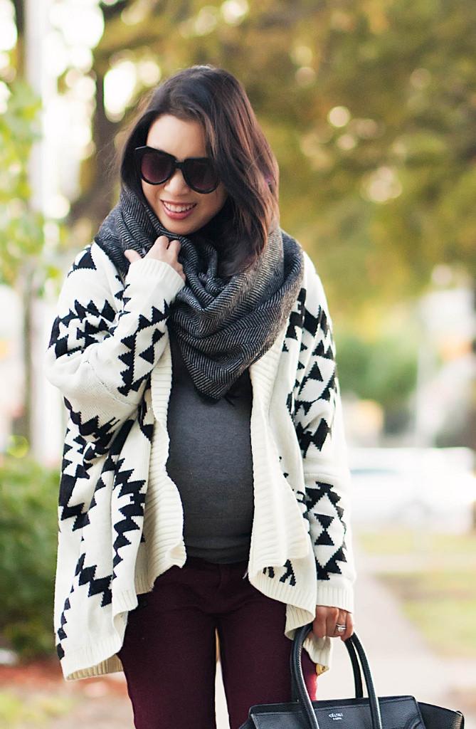 AZTEC cardigan sweater knitting pattern on Storenvy