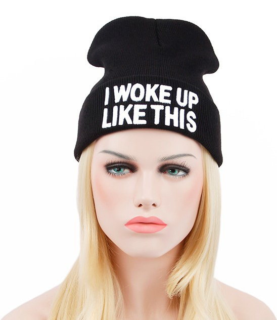 335025f83f5 I WOKE UP LIKE THIS BEANIE · Liz Boutique · Online Store Powered by ...