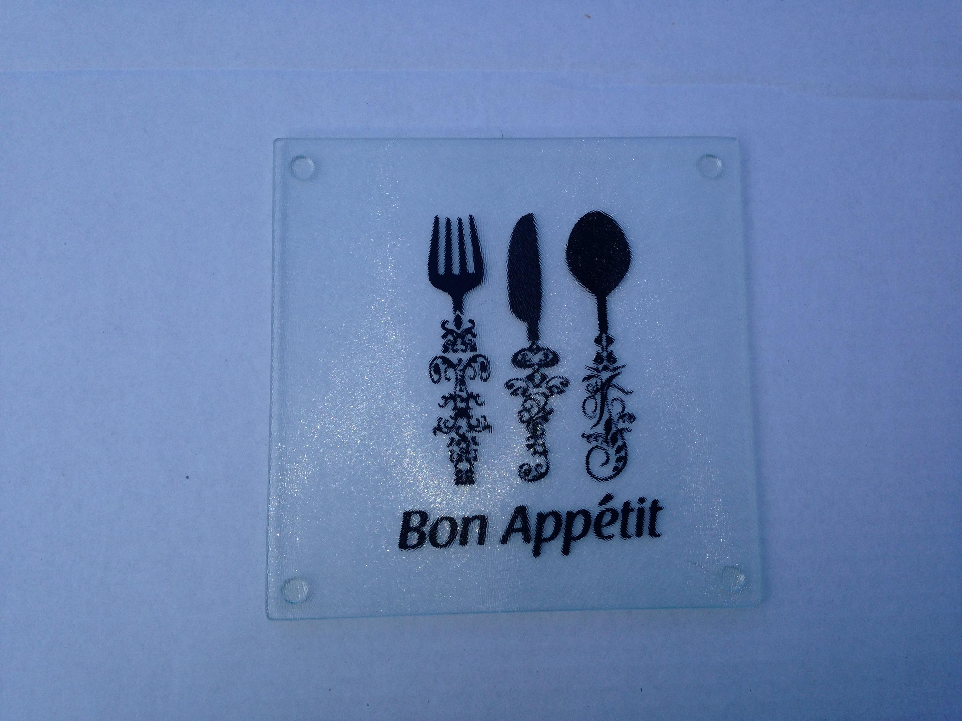 Bon Appetit Glass Trivet Sold By Abanakee Custom Gifts On Storenvy