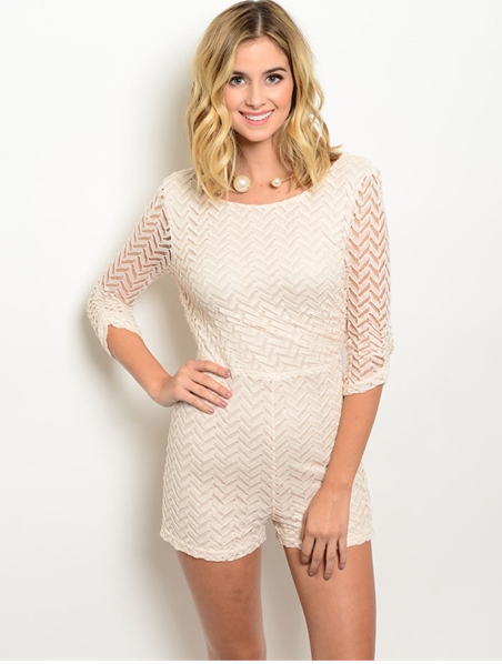 befcf210b Jenna White Romper · Très Chic Boutique · Online Store Powered by ...