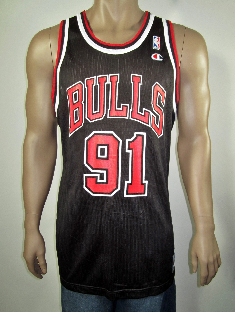 detailed look a3bc0 bcd89 Dennis Rodman Chicago Bulls Champion Jersey 48 NWT from DFRNSH8