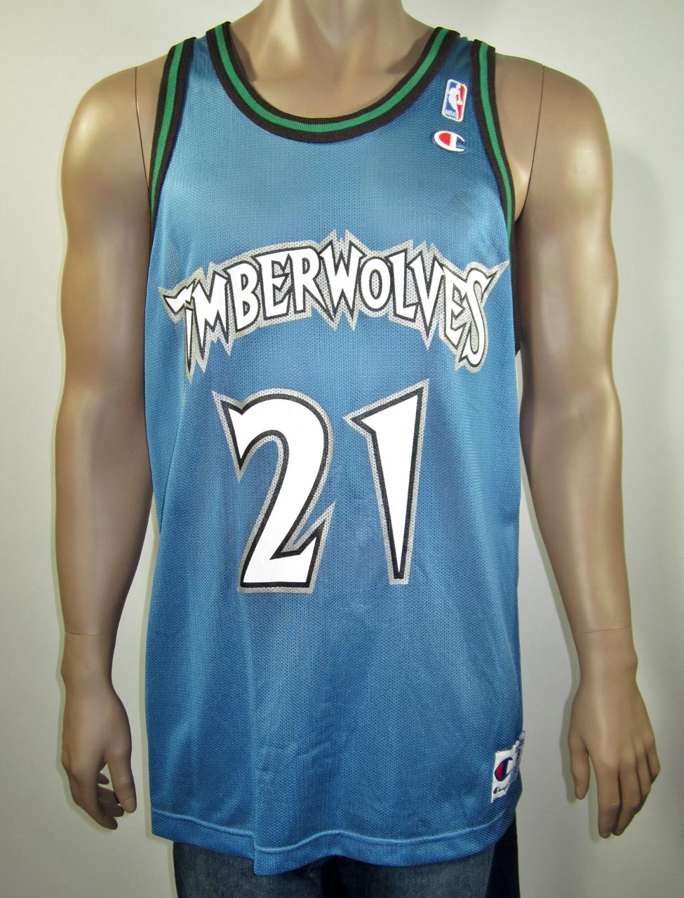 sale retailer eeda5 5fad5 Kevin Garnett Minnesota Timberwolves Champion Jersey 48 NWT from DFRNSH8