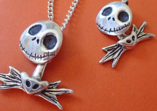 Nightmare before christmas jack Skellington  charm necklace