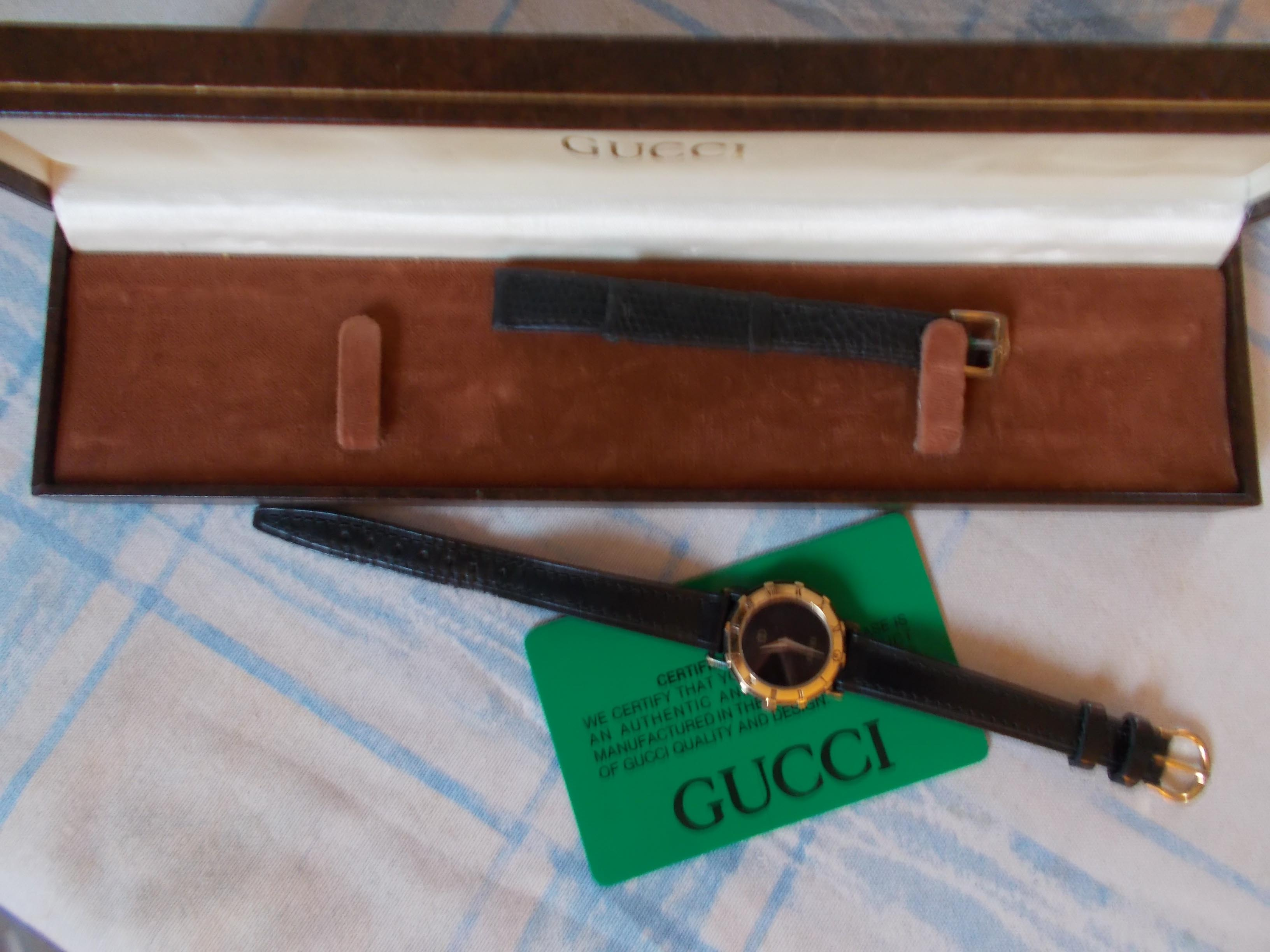 7d6811a7d23 1980 s vintage gucci ladies petite watch