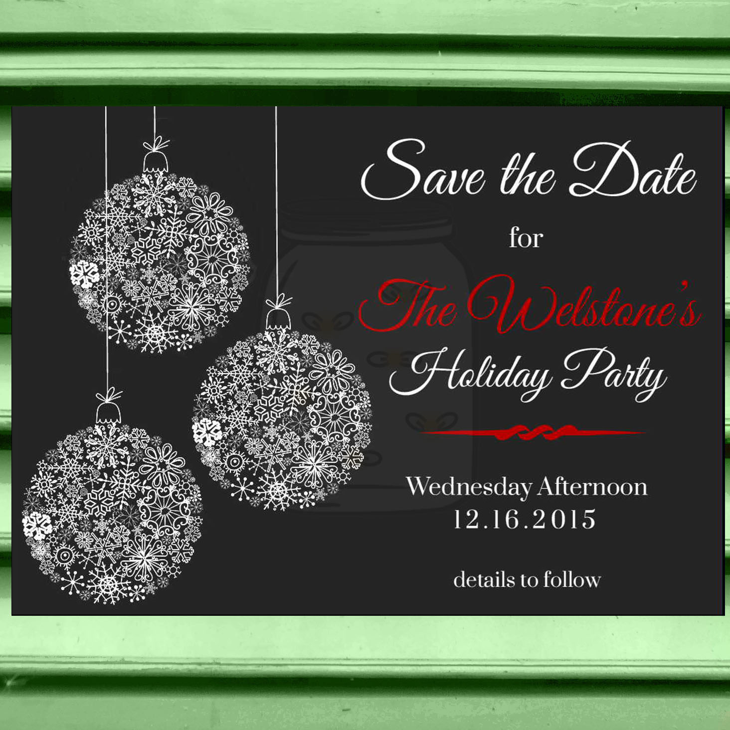 Save The Date Christmas Party On Storenvy