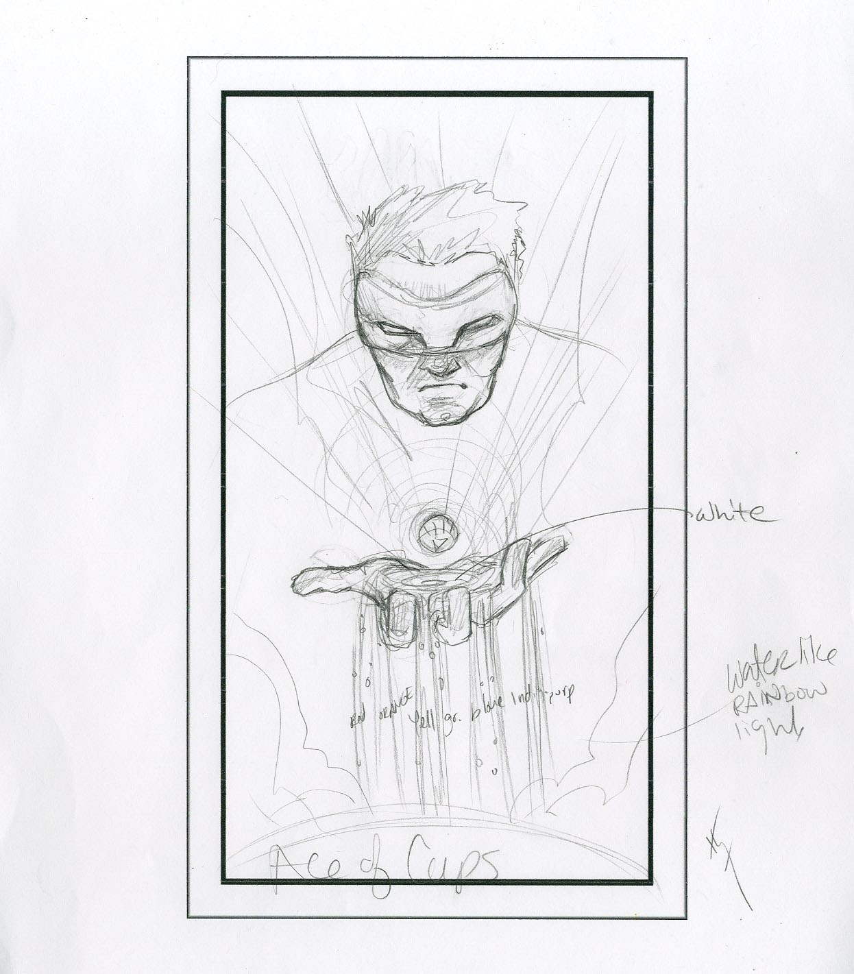 Ace of Cups - White Lantern prelim from The Art of Sara Richard