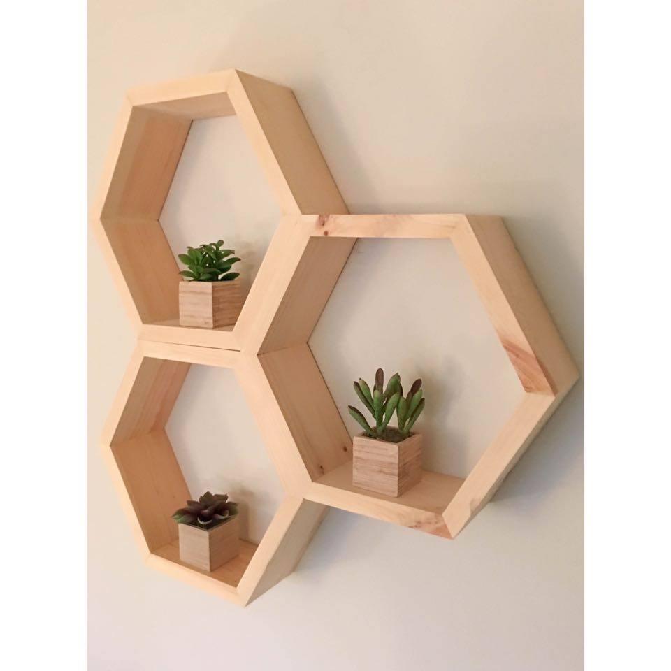 Honeycomb Shelf Hexagon Shelf Crystal Shelf Shadow