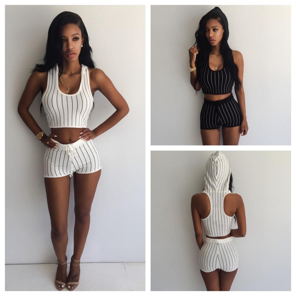 9c82db1fc9 2 two piece set women dress 2015 new summer style women clothing white  black club short