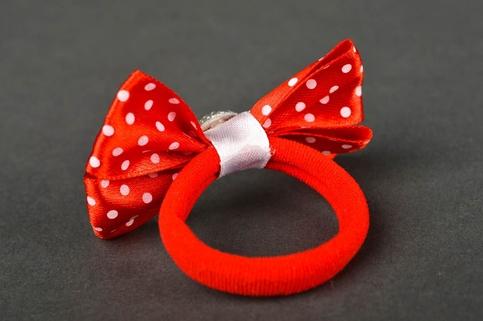 Homemade Hair Scrunchie Bow Hair Tie Girls Hair Bows