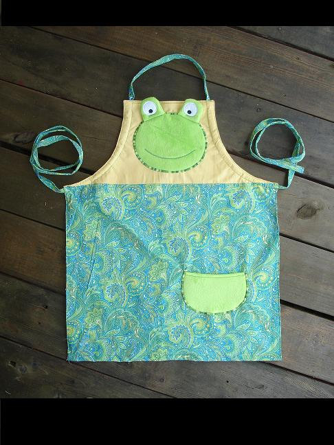 Childs Kids Frog Apron Multisized Adjustable Strap Ready To Ship Sold By Sissybugs On Storenvy