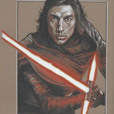 original illustration-star wars happy holidays  official star wars art · randy martinez art