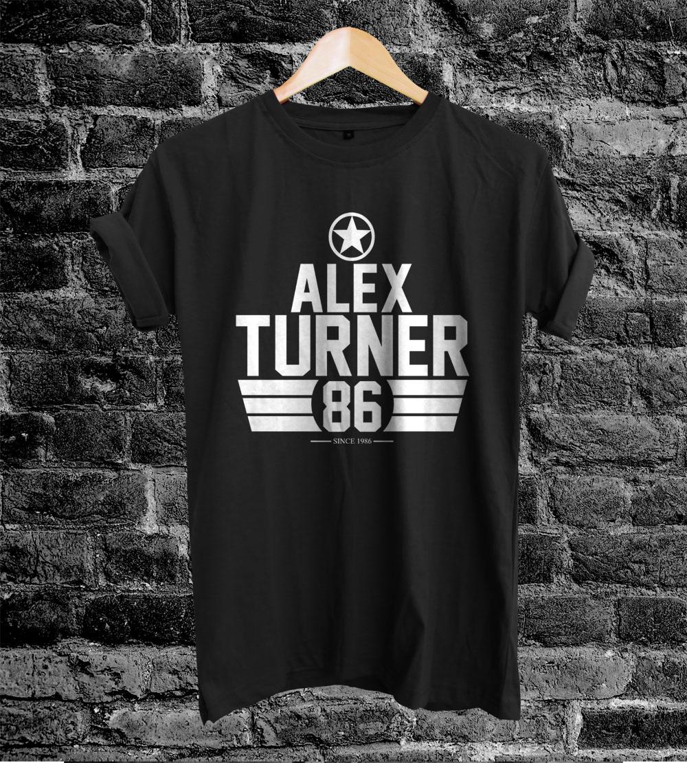 Arctic Monkeys Shirt Alex Turner TShirt Tee Black White S M L XL ... 26ad6d19e