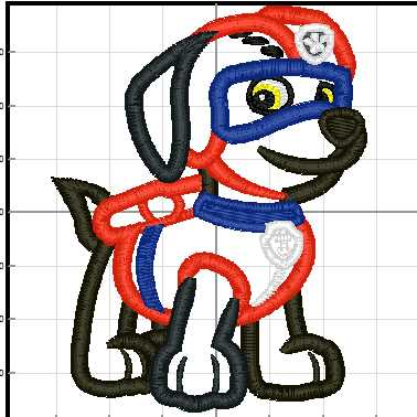 Paw Patrol Zuma Applique Machine Embroidery Designs in 2 Sizes from Ionnee  Designs