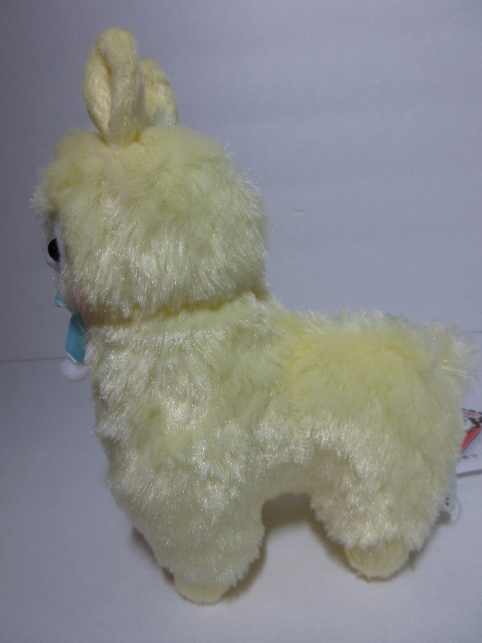 """Velvet Ribbon"" Alpacasso Yellow Alpaca Blue Ribbon 16cm ..."
