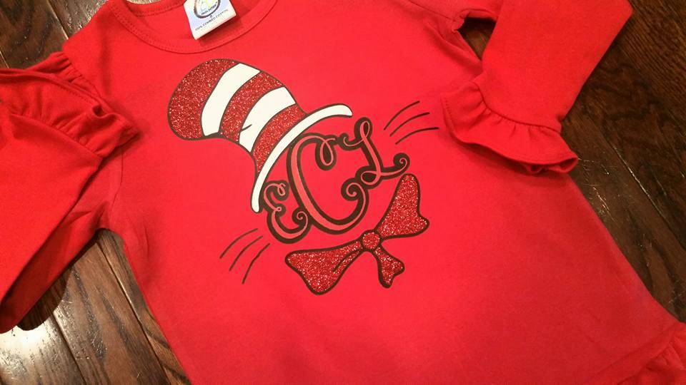 00bbff670 Cat in the Hat Monogram - Dr. Seuss Shirt on Storenvy