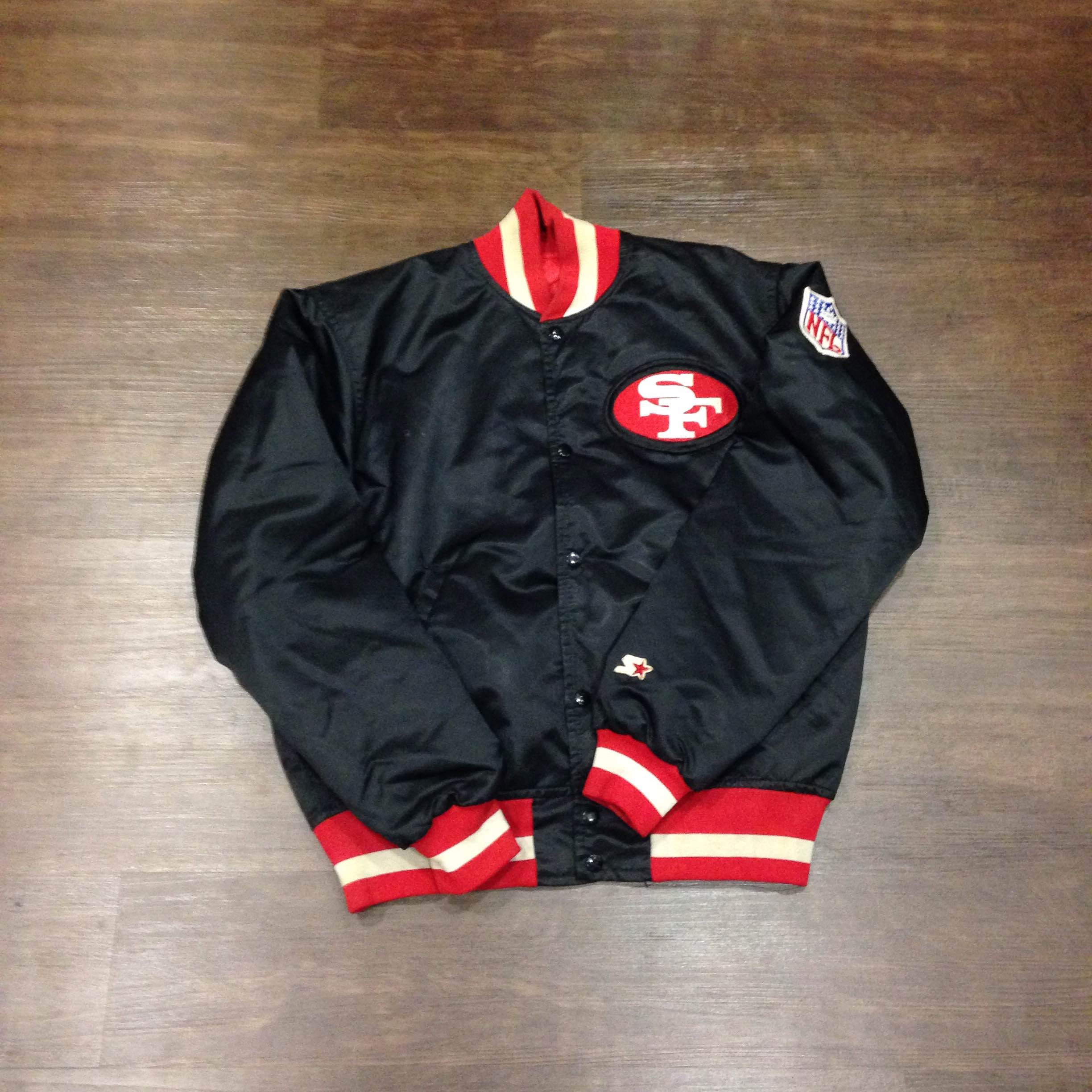 new concept 706bb 63cce San Francisco 49ers Satin Starter Jacket Medium from Kings Court Vintage