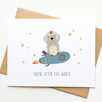 Otter Funny Pun Congrats Valentines Day Card Le Trango Online