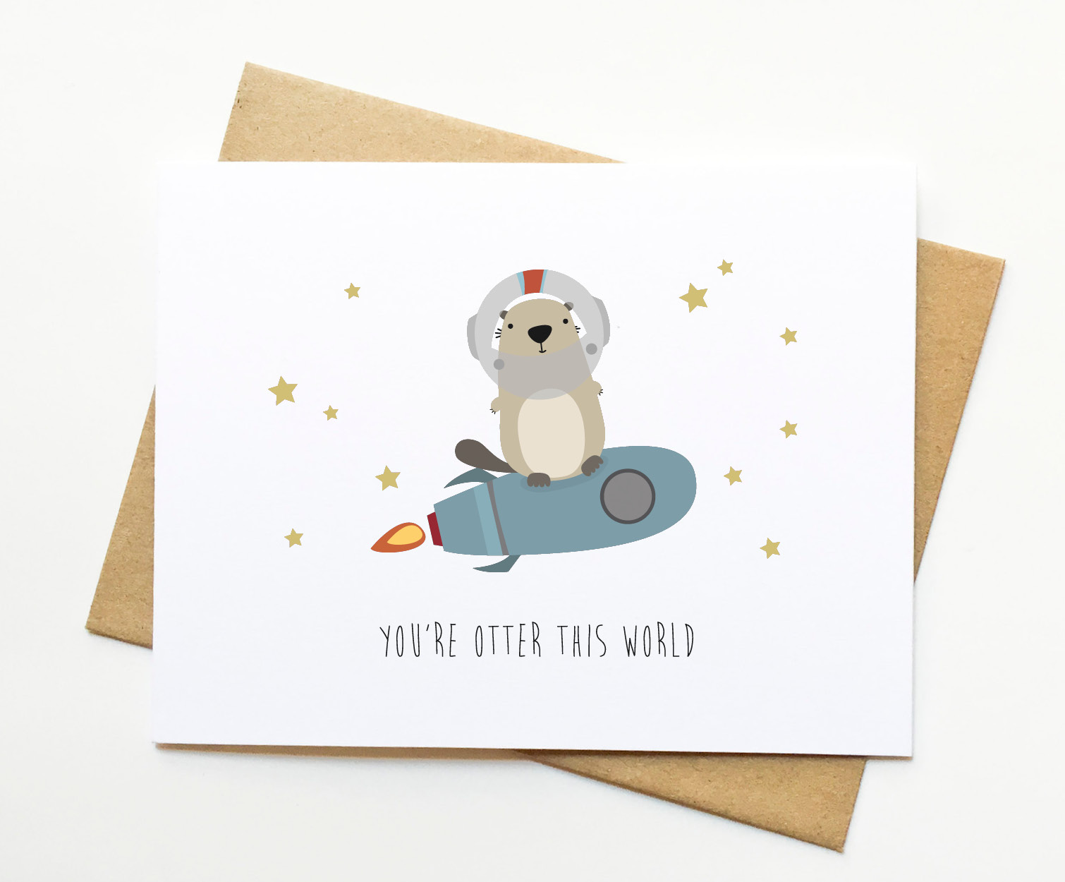 Otter Funny Pun Congrats Valentines Day Card On Storenvy
