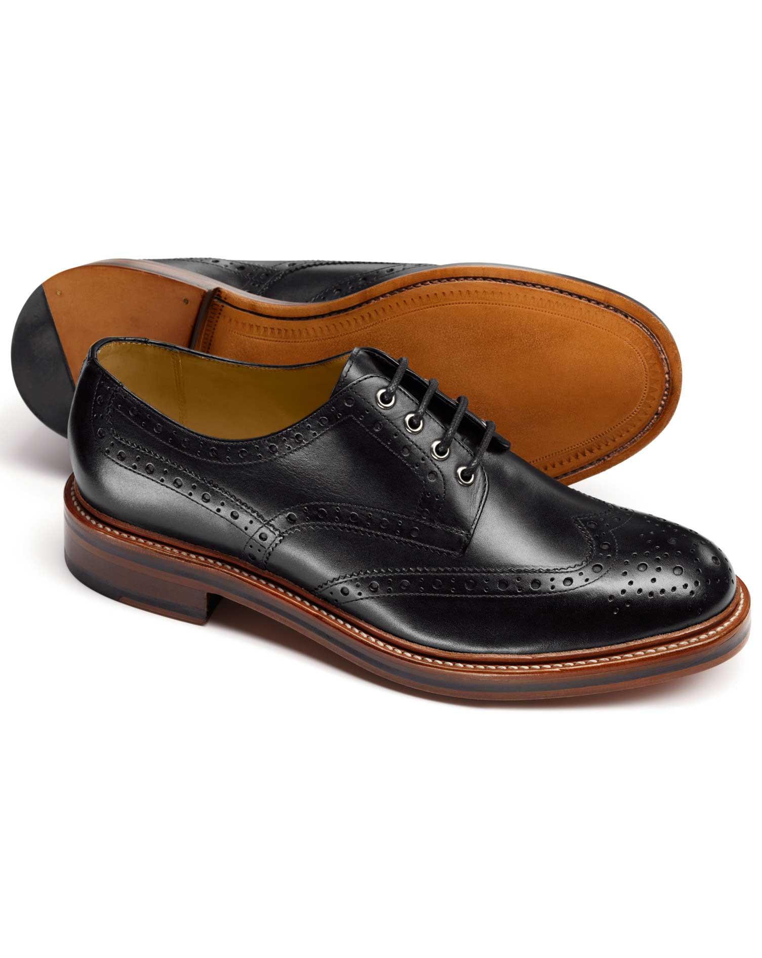 f6473d11e7e Handmade mens derby black dress shoes