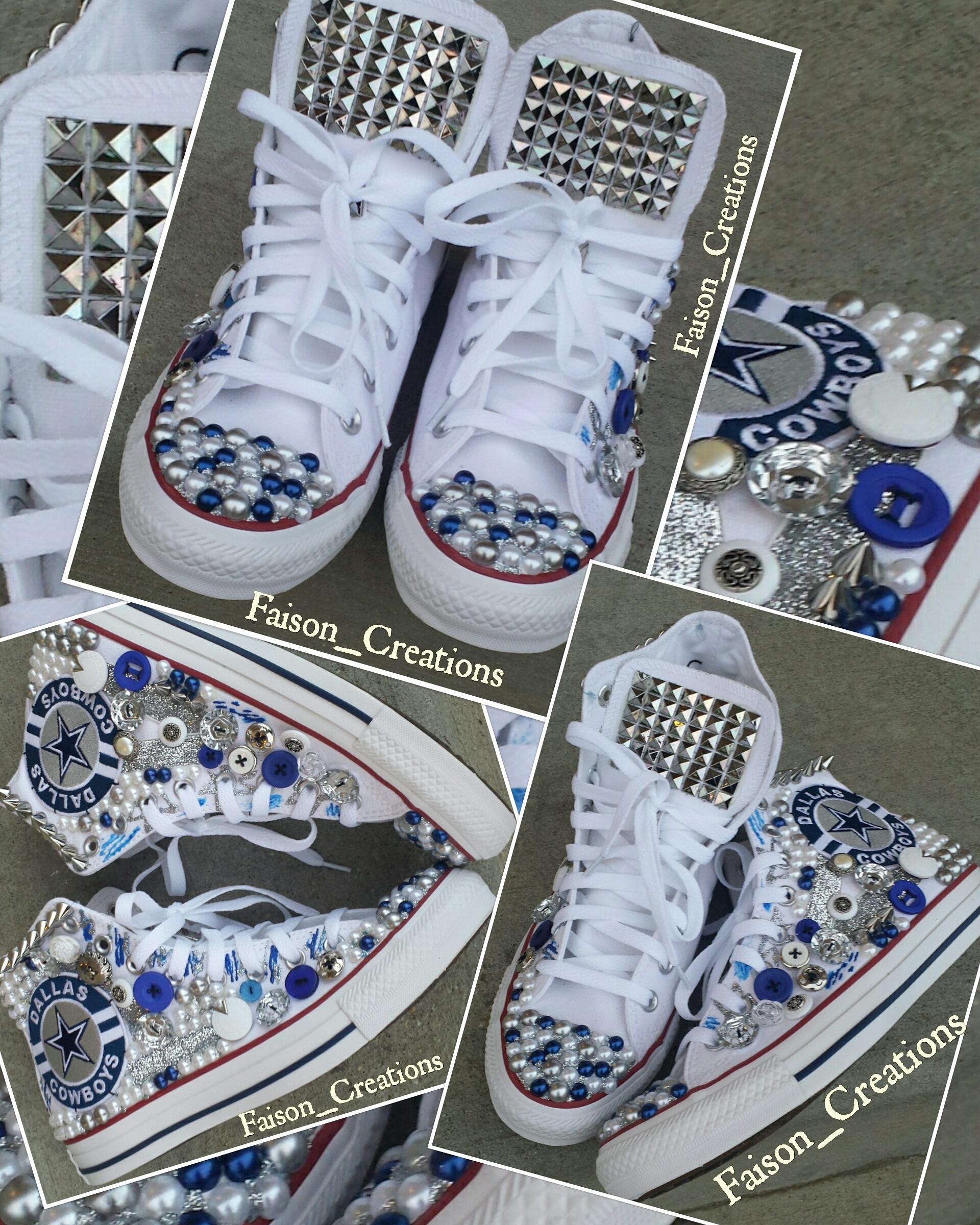 Adult Custom Dallas Cowboy Converse on Storenvy 645a0254be38