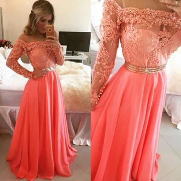 939f5c5fec Boat Neckline Long Sleeves Prom Dresses,Lace Beading Evening Dresses,Long  Party Dresses,Prom Gowns,Prom Dress 2016 from 21weddingdresses