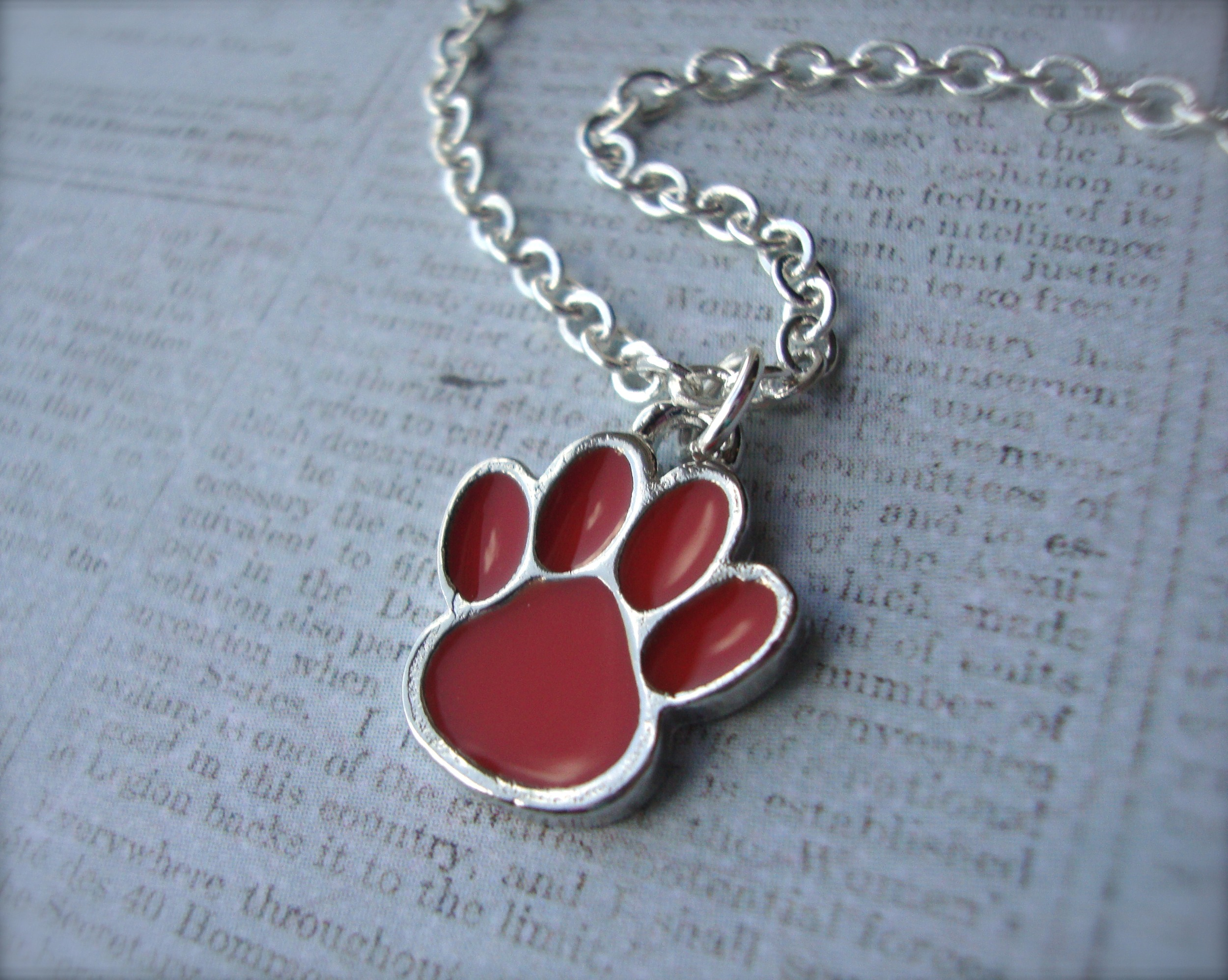 Ed Sheeran Ed Sheeran Inspired Orange Paw Print Necklace On 925