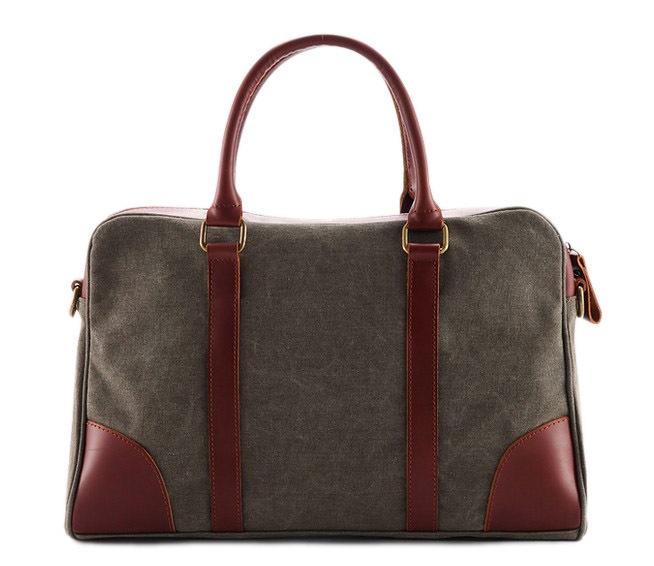 50cfca4bf0a6 Canvas with Leather Tote Bag Briefcase Messenger Bag Shoulder Bag 1838