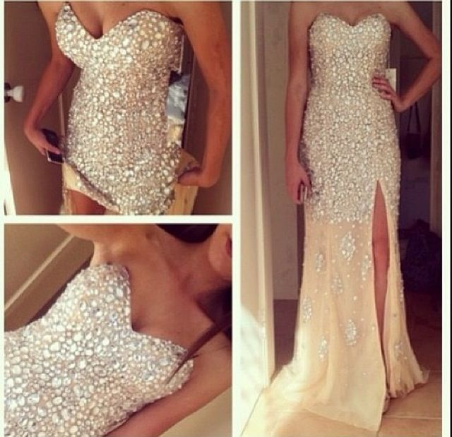 2016 Top Selling Sequin Shiny Prom Dresses,Custom Made Sweetheart ...