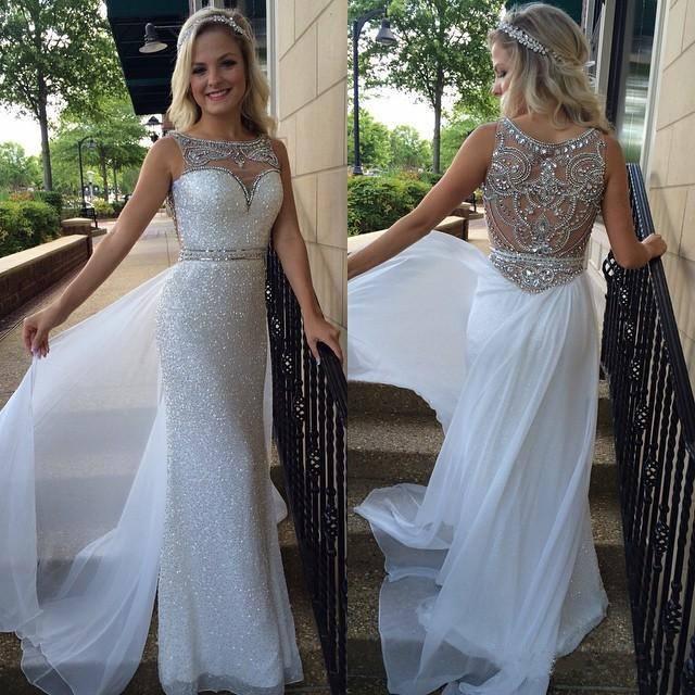 Beading Sexy Custom Made Charming Prom Dresschiffon Formal Dresses