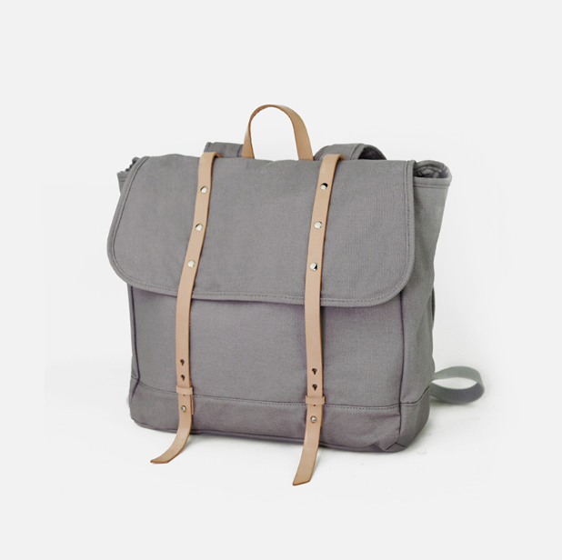 7f7a4a435c5 Vintage Men Casual Canvas Leather Backpack Rucksack Bookbag Satchel ...