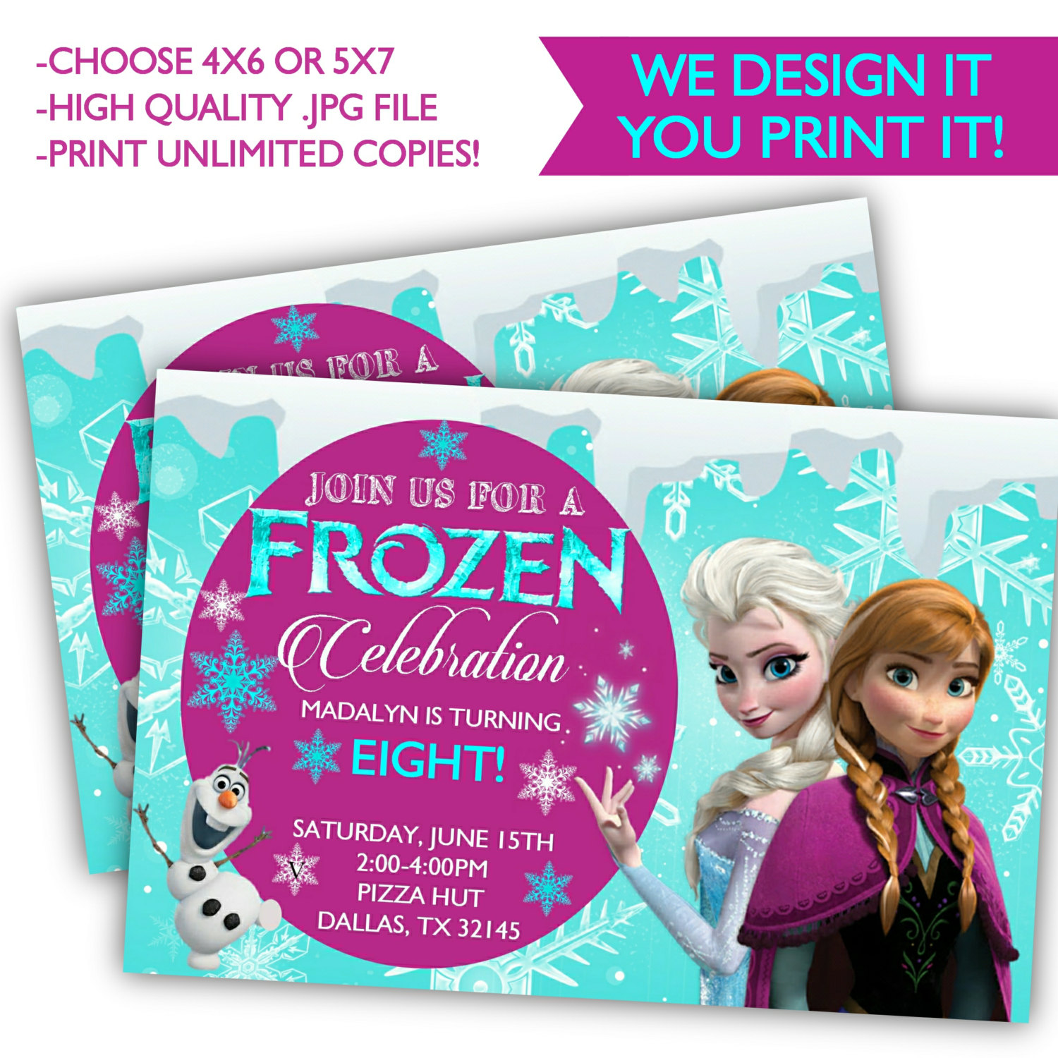 picture about Printable Frozen Invitations titled Frozen Birthday Invites - Printable Frozen Birthday - Frozen Birthday against Posh Pixel Plans