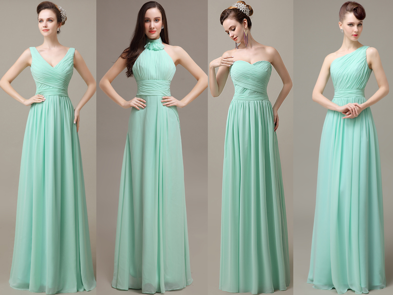Long Chiffon Bridesmaid Dresses With Different Neckline,PD160180 ...