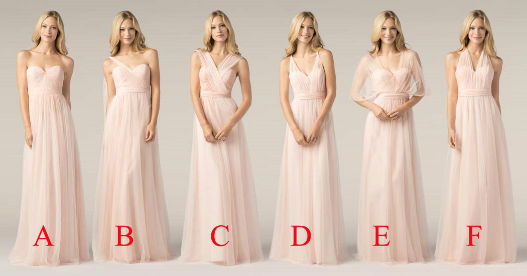 Multi Styles Floor Length Bridesmaid Dresses
