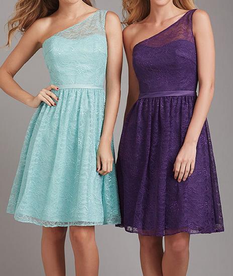 Turquoise Purple Bridesmaid Dresses