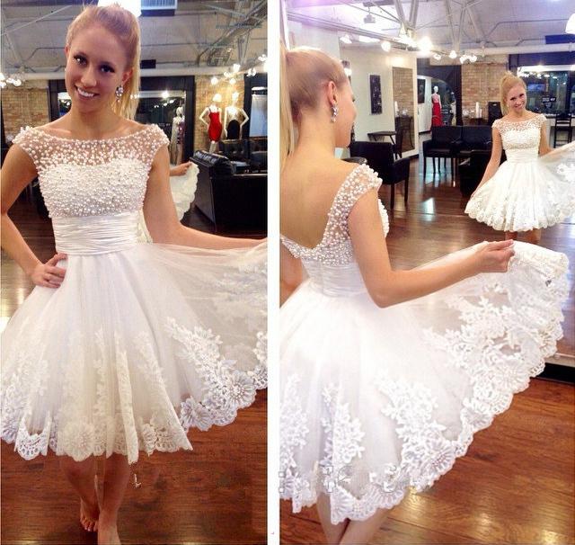 Shedress Online Cute Cheap Short White Prom Dress,homecoming dress ...