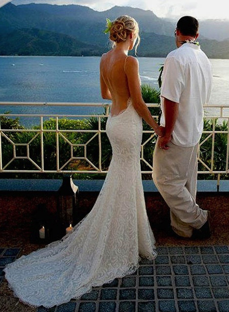 Lace Backless Wedding Dress Kleinfeld